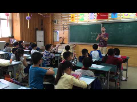Alex teaching English in China - Chengdu