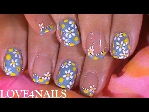 fast n easy nail art design tutorial for summer  youtube