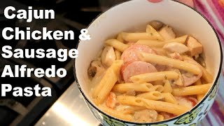 One Pot Cajun Chicken & Sausage Alfredo | Cooking with Candi