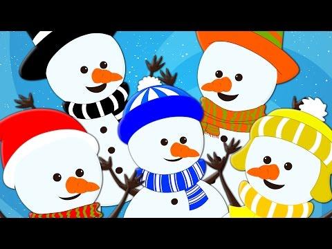 five little snowman  christmas carol  christmas songs