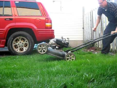 gutbrod rasenm her lawn mower smokey cold start kaltstart. Black Bedroom Furniture Sets. Home Design Ideas