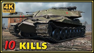 IS-7 - 10 Kills - 1 VS 3 - World of Tanks Gameplay - 4K Ultra HD Video