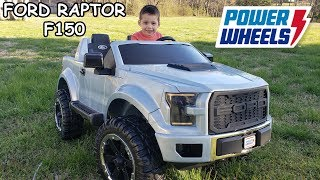 Power Wheels Ford Raptor F150 Unboxing, Assembly and Playtime | Ride On Toy Car for kids