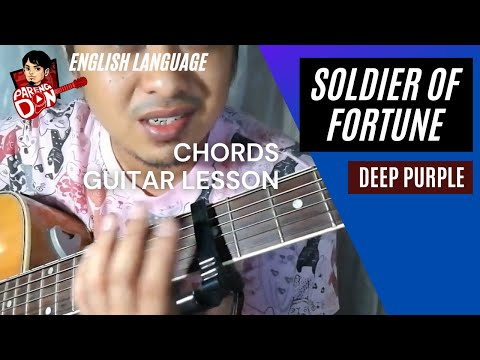 Soldier of Fortune chords - with capo - Deep Purple guitar tutorial by Pareng Don