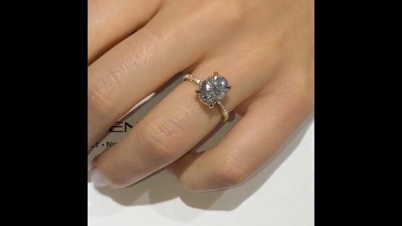 3 Carat Oval Moissanite Engagement Ring Youtube