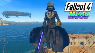 FALLOUT 4 MODS #1 - 50 FT TALL DARTH VADER w/ LIGHTSABER! (Fallout 4 Mods Gameplay)