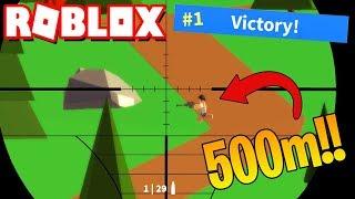 SNIPER A 500 METROS *VICTORIA* | ROBLOX FORTNITE ISLAND ROYALE |