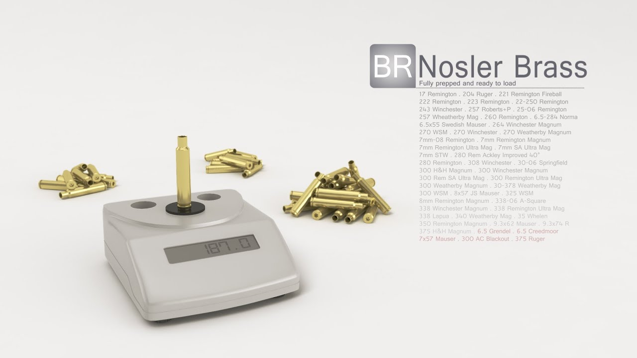 Nosler Brass | Nosler - Bullets, Brass, Ammunition & Rifles