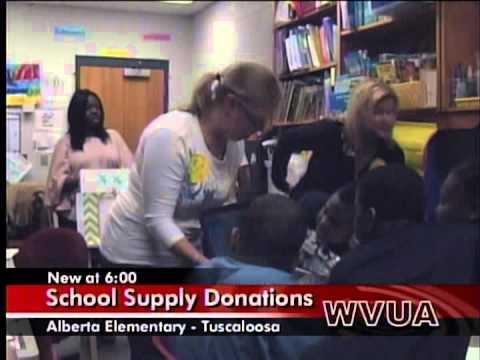 Richmondmom Visits Alberta Elementary School- Tuscaloosa Tornado 2012