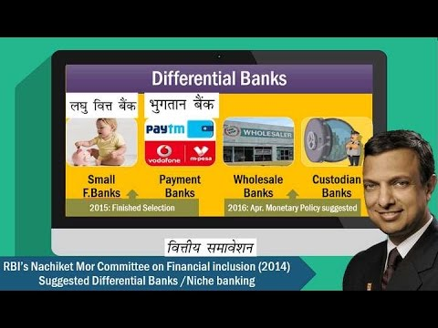 BES161/P10: Differential Banks- Small Finance Banks, Payment Banks & Others