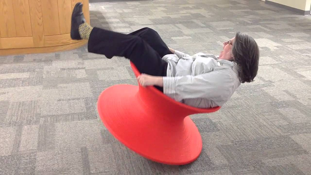 Magis Spun Rotating Chair  RIT Libraries  YouTube