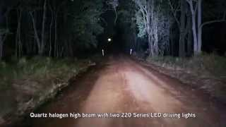 Xray Vision 220 Series LED Driving Lights: Demo Video