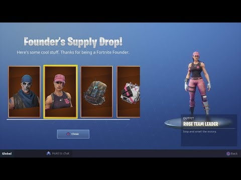 How To Claim Your Founder's Skins When You Buy Save The World (Rose Team Leader and Warpaint Skins)