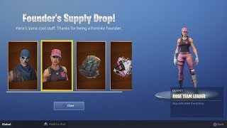 How To Claim Your Founder's Skins When You Buy Save The World (Rose Team Leader and Warpaint Skins) thumbnail
