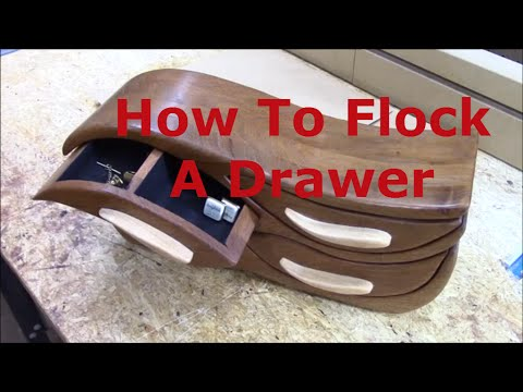 How To Flock a Small Bandsaw or Jewelry Box  Drawer