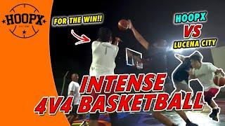 4V4 BASKETBALL HIGHLIGHTS | HOOPX VS LUCENA CITY