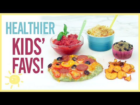 5 HEALTHIER VERSIONS OF KIDS' FAVORITES (with hidden veggies!)