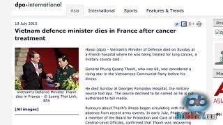Hãng thông tấn Đức đưa tin Bộ trưởng Quốc phòng VN qua đời tại Pháp