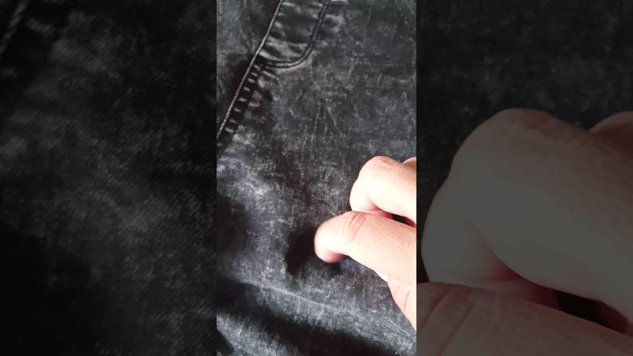 como quitar pegamento de tela