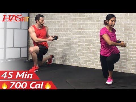 45 Min Tabata HIIT Workout for Fat Loss + Abs: High Intensity Interval Training at Home Routine