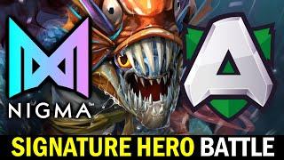 NIGMA vs ALLIANCE — Signature Hero Battle