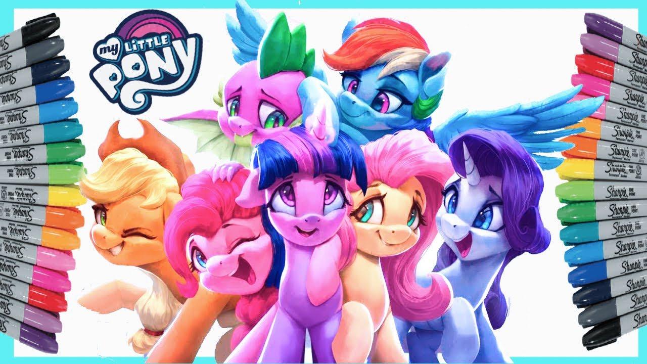 Coloring My Little Pony Mewarnai Kuda Poni Twilight Sparkle Pinkie Pie Rainbow Dash