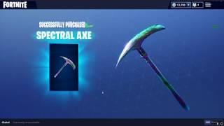 Fortnite NEW Skins || Spectral Axe || Brilliant Striker || Radiant Striker