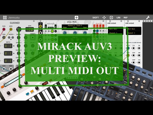 miRack AUv3 - Preview: Multi Midi Out with AUM, Cassini, Sunrizer