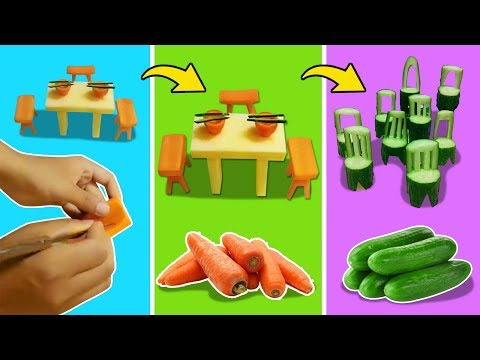 Girl DIY! FUNNY COOKING LIFE HACKS WITH Table and chair   Fun DIY Food Tricks & CRAZY COOKING HACKS