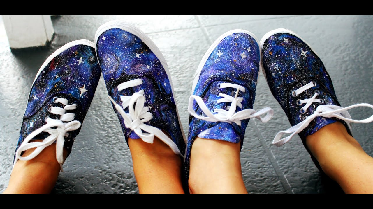 DIY Galaxy Print Shoes with Jackie  Julia!YouTube