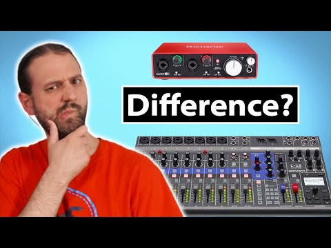 Audio Interface Vs Mixer With USB Interface