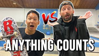 ANYTHING COUNTS GAME OF SKATE - AARON KYRO VS JASON PARK