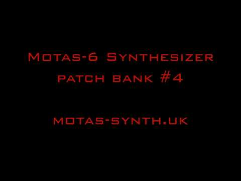 Motas-6 synthesizer 50 new patches
