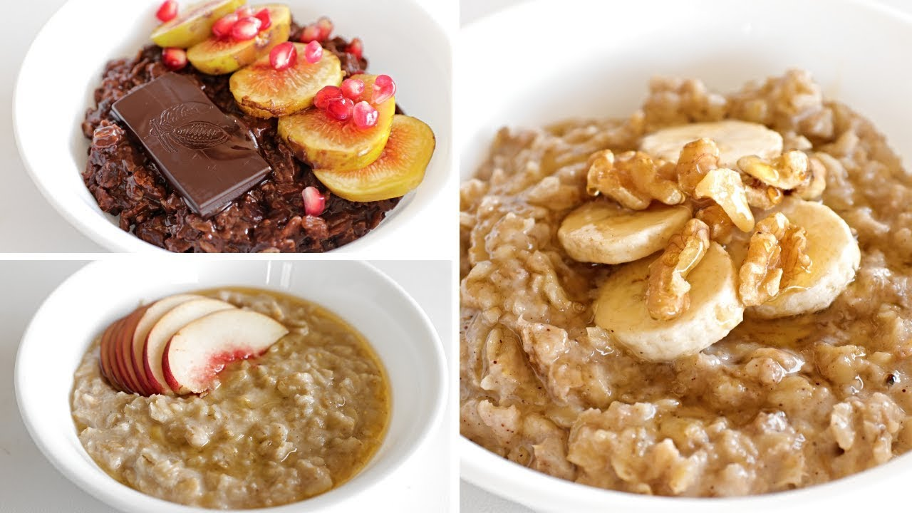 3 Healthy Oatmeal Porridge Recipes The Cooking Foodie