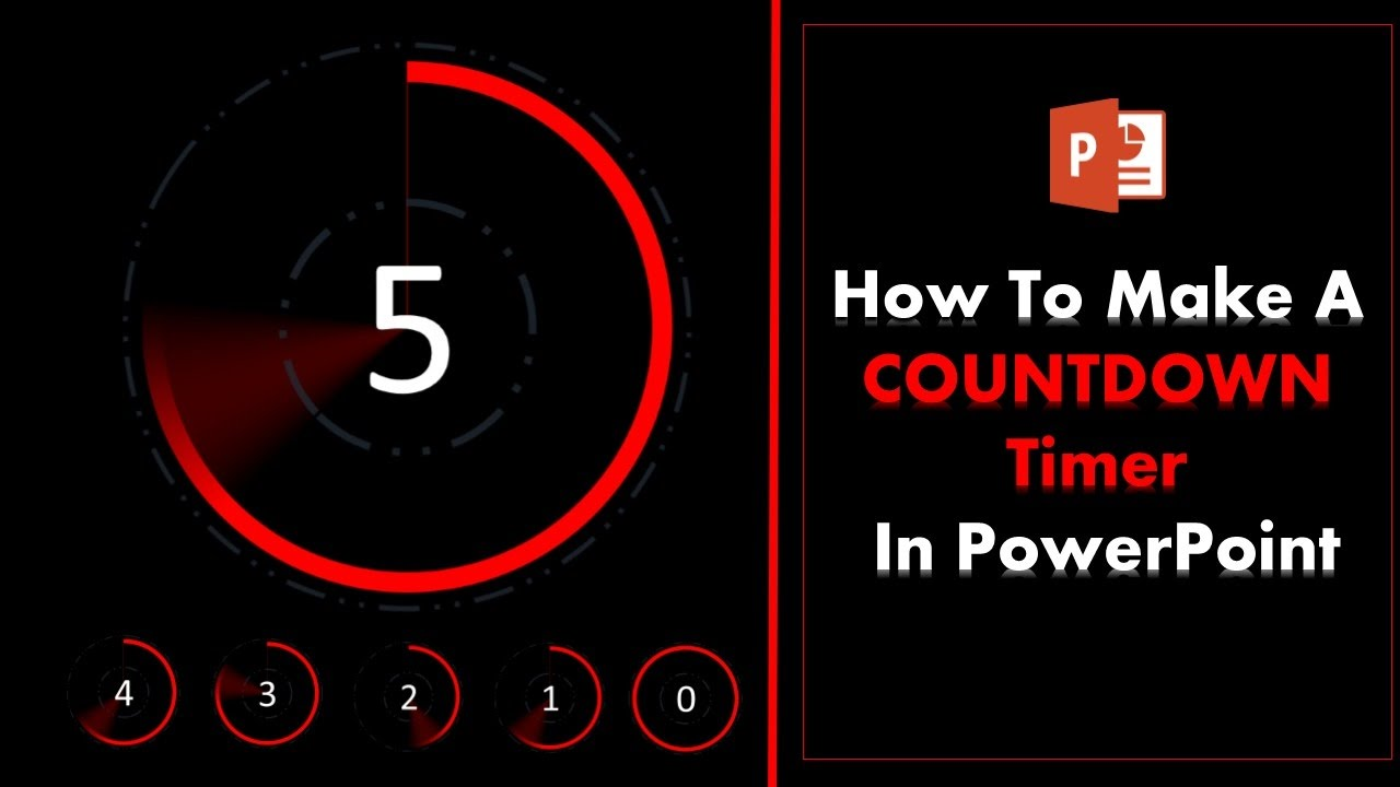 how to create a 5 second countdown timer in powerpoint youtube