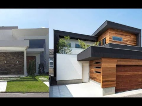 ideas de fachadas de casas modernas 2018 youtube On casas estrechas modernas