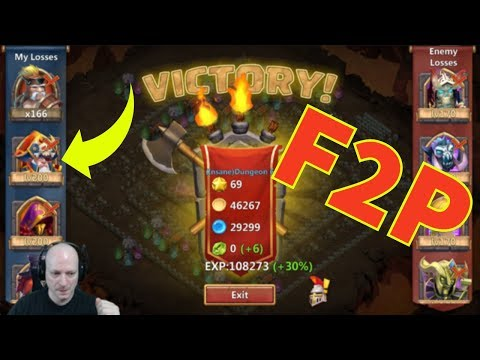 Castle Clash | Insane Dungeon 6-10 | Free To Play Heroes | Stratagy