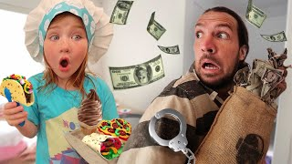 ADLEY'S MYSTERY CAFE!!  Chef Adley is the BOSS!  neighborhood play doh restaurant!  cops vs robbers