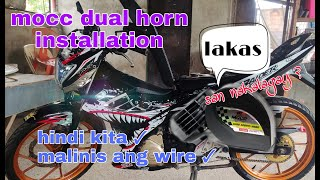 Download How to install Mocc dual horn on Raider 150 carb | ayos to malakas ang tunog |