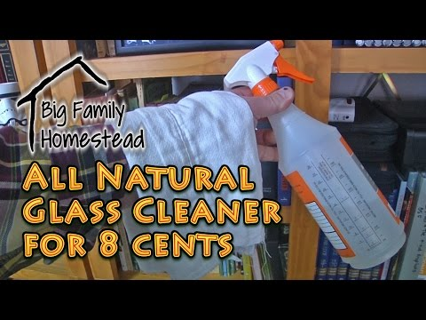 All Natural Glass Cleaner for 8 cents