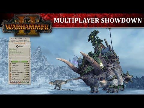 Total War: WARHAMMER 2 - Геймплей Ящеролюдей против Высших Эльфорв