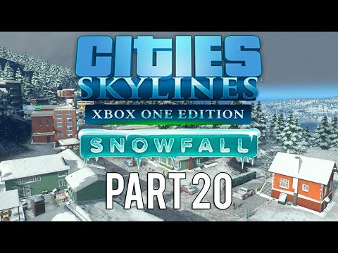 Cities Skylines Xbox One Edition Snowfall   Walkthrough Gameplay   Part 20   Bus Station