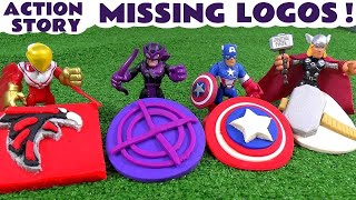 Avengers Stolen Logo Play Doh Thomas and Friends Story | Star Wars Falcon Thor & Hawkeye