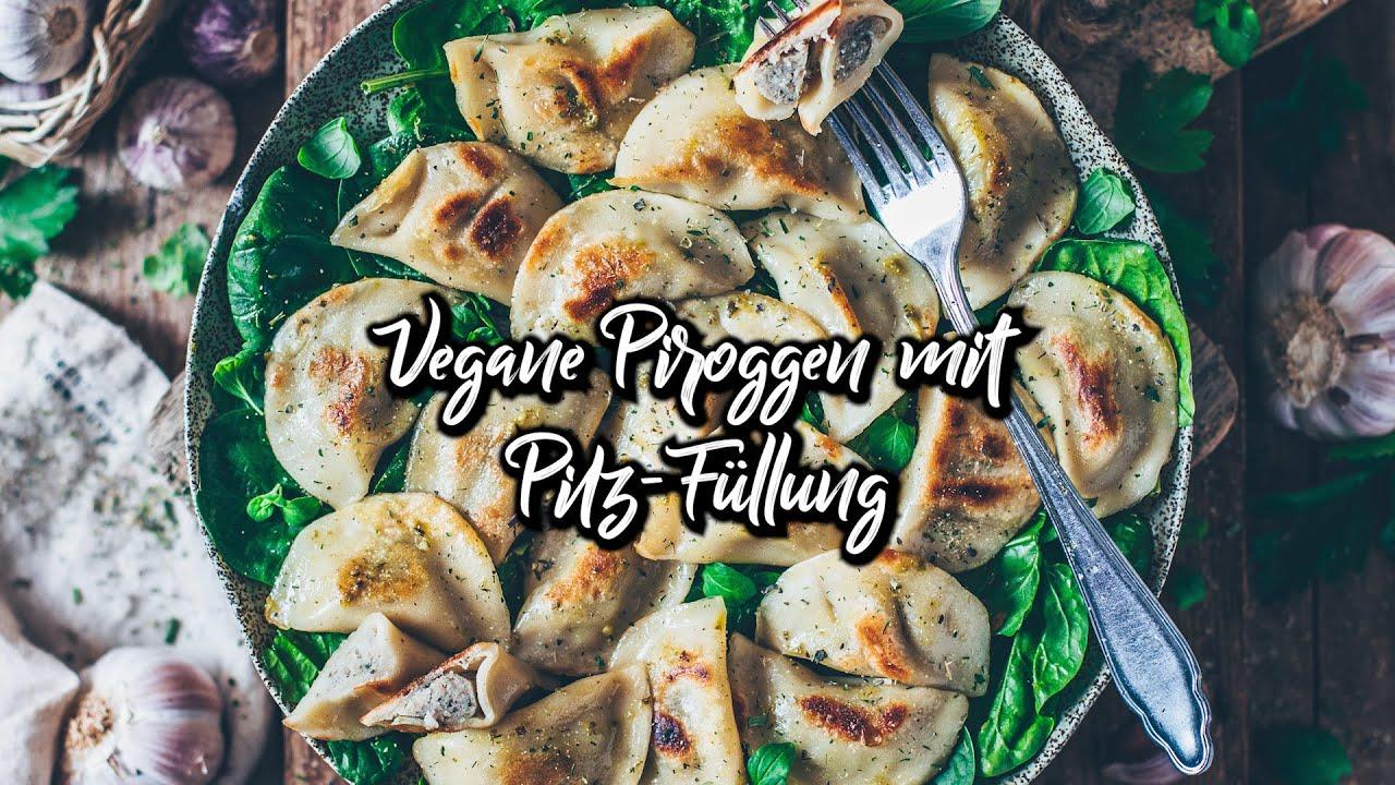 Vegane Piroggen mit Pilz-Füllung  * Rezept