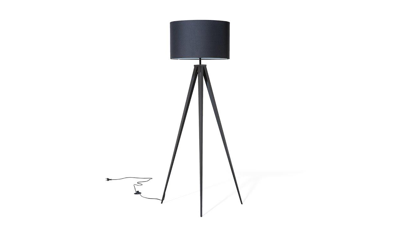 Stehlampe Schwarz 156 Cm Stiletto Beliani De