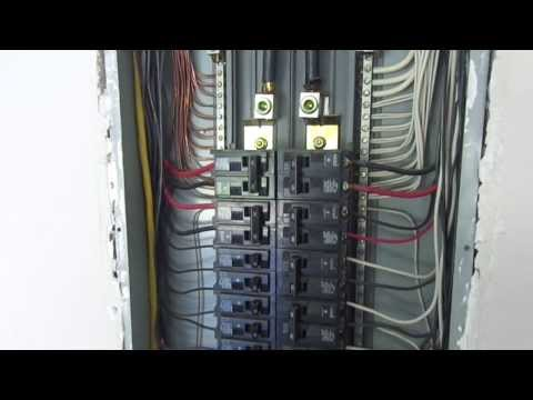 Thompson Home Inspections evaluation of an electric panel