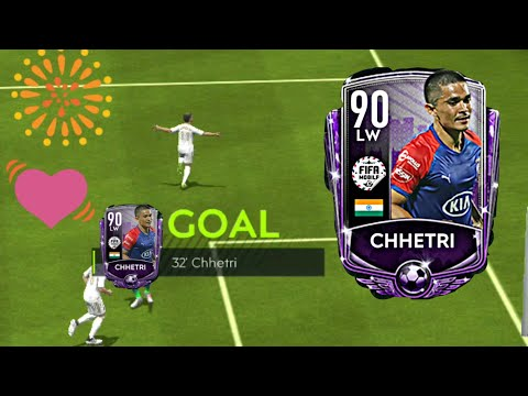 ISL Sunil Chhetri 🇨🇮 Gameplay In FIFA Mobile ! Goals ⚽ , Celebration 🎆  And Skill Moves |