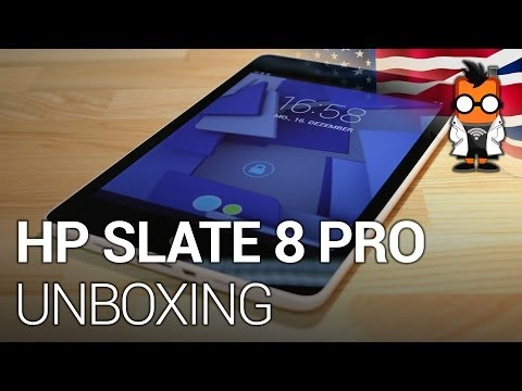 HP Slate 8 Pro unboxing and hands on - Tegra 4 quad core 8 inch tablet