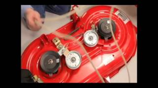 How to change your Riding Mower's Deck Belt on your MTD / Troy Bilt