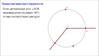 Геометрия 8 класс. Градусная мера дуги окружности